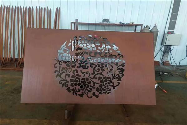 霍林郭勒耐候钢板景墙